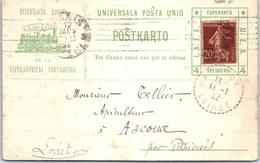 THEMES - ESPERANTO - Carte De Correspondance De L'association - Esperanto