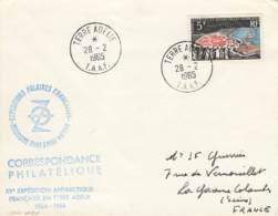 Let 011 - T.A.A.F. - Terre Adélie - 1965 - Covers & Documents