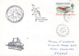 Let 147 - Islande - 1974 - Port Stanley Malvinas/Falkland Islands - M.S. Lindblad Explorer - Stamps