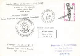 Let 177 - France - Alfred Faure - Crozet - 1974 -Marion Dufresne - Paquebot - Stamps