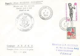 Let 181 - France - Marseille Gare Saint Charles - Paquebot - Marion Dufresne - 1974 - Stamps