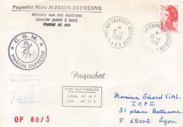Let 190 - France - Marion Dufresne C.G.M. - 1988 - Paquebot - Stamps