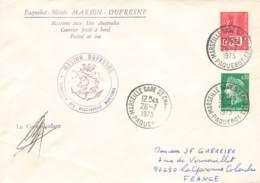 Let 194 - France - Marion Dufresne - Paquebot - Marseille Gare Saint Charles - 1975 - Stamps