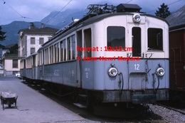 Reproduction D'une Photographie D'un Train A.S.D à Aigle En Suisse En 1965 - Reproductions