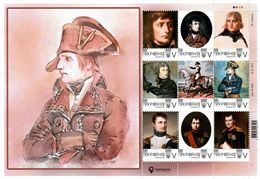 Ukraine 2019, Emperor Napoleon I Bonaparte, Sheetlet Of 9v - Ukraine