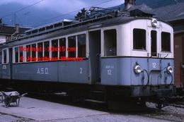 Reproduction D'une Photographie D'une Vue D'un Train A.S.D à Aigle En Suisse En 1965 - Reproductions