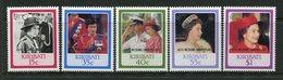 Kiribati 1987 Royal Ruby Wedding Anniversary Set MNH (SG 279-83) - Kiribati (1979-...)