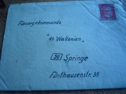 Brief Der Fürsorgekommando Mit 2 S. Wallonien Mit Inhalt.1944 Belgien. - Dokumente