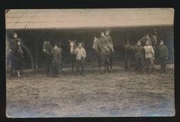 FOTOKAART  SOLDATEN MET PAARDEN - Militaria