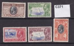 Cayman Islands 1935 5 Values To 2d (MM) - Iles Caïmans