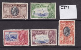 Cayman Islands 1935 5 Values To 2d (MM) - Kaaiman Eilanden