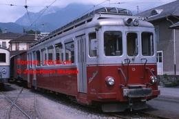 Reproduction D'une Photographie D'un Train A.O.M.C à Aigle En Suisse En 1965 - Reproductions