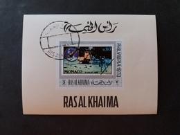 EMIRATI ARABI RAS AL KHAIMA 1970 INTERNATIONAL STAMPS EXHIBITION PHILYMPIA 70 MNH MINI SHEET - Jemen