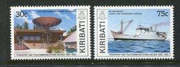 Kiribati 1989 Transport And Telecommunications Set MNH (SG 314-15) - Kiribati (1979-...)