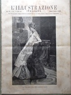 L'Illustrazione Italiana 12 Ottobre 1890 Corfù Crispi Baccarini Palermo Ticino - Vor 1900