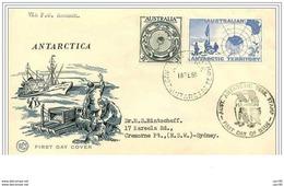 EXPÉDITION POLAIRE ANTARCTIQUE.AUSTRALIE 1958.SUPERBES CACHETS.n°2 - Zonder Classificatie