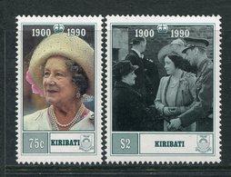 Kiribati 1990 90th Birthday Of Queen Elizabeth, The Queen Mother Set MNH (SG 341-42) - Kiribati (1979-...)