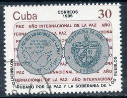 Y85 CUBA 1986 3025 International Year Of Peace. Policy - Gebruikt