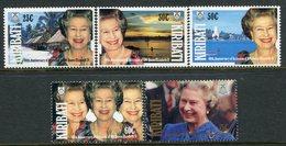 Kiribati 1992 40th Anniversary Of Accession Of Queen Elizabeth II Set MNH (SG 377-81) - Kiribati (1979-...)