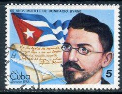 Y85 CUBA 1986 3028 50th Anniversary Of The Death Of Bonifacio Byrne, Poet - Gebruikt