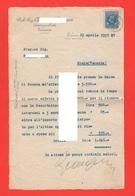 Venezia Campo Manin Commercialista A. G. Lettera Sollecito Interessi 1937 Marca Bolo 0,50 Cents - Negozi