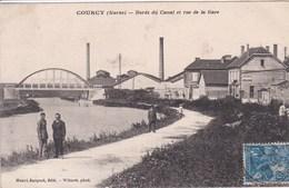 51 COURCY Bords Du Canal Et Rue De La Gare - France