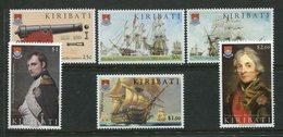 Kiribati 2005 Bicentenary Of Battle Of Trafalgar Set MNH (SG 723-728) - Kiribati (1979-...)