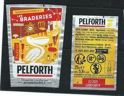 B 54 - BIERE PELFORTH -  ETIQUETTE FORMAT TRAPEZE (EDITION LIMITÉE N° 1) Imaginées Par Kylab (Illustateur) - Bier