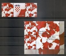 CROATIA 2020,30TH STATEHOOD DAY,,FLOWERS,VIGNETTE,ROSES,,MNH - Croatia