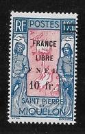 SPM MIQUELON YT 289  NEUF* TB - Unused Stamps