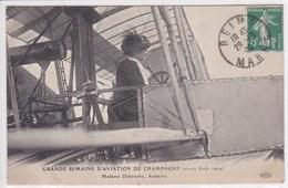 51 Aviation De Champagne ,Madame Delaroche Aviatrice ,aout 1909 , Tampon Reims - France