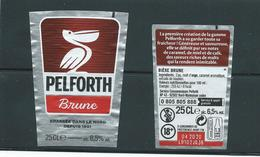 B 56 - BIERE PELFORTH -  ETIQUETTE FORMAT TRAPEZE  BIERE BRUNE - Bier