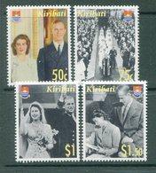 Kiribati 2007 Diamond Wedding Of Queen Elizabeth II & Prince Philip Set MNH (SG 786-89) - Kiribati (1979-...)