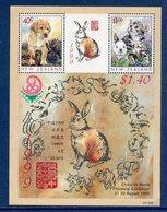 Nouvelle Zélande - Bloc YT N° 134 - Lapin - Chien - Chat - Neuf Sans Charnière - 1999 - Blocks & Sheetlets