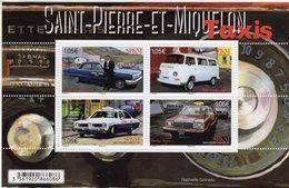 Saint-Pierre & Miquelon - TAXIS - Chevrolet Biscayne-Volkswagen T2-Pontiac Lemans-Dodge Aries - 4v Sheet Neuf/Mint/MNH - Voitures
