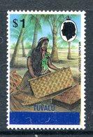 Tuvalu 1976 Gilbert & Ellice Stamps Overprinted - Wmk. Upright - $1 Weaving MNH (SG 9) - Tuvalu