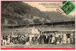 CPA 38 ST GEOIRE EN VALDAINE Saint Arrivée De Lyon Du Maréchal Des Logis Carus Pilotant Le Biplan Militaire 1913 Avion - Saint-Geoire-en-Valdaine