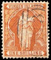 Scott 27   1/- St Ursula With Lilies. Used. - British Virgin Islands