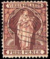 Scott 24   4d St Ursula With Lilies. Used. - British Virgin Islands