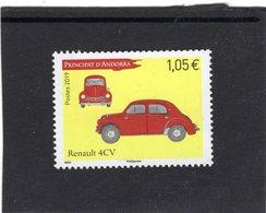 Principat D'Andorra 2019  -   Renault 4CV  -   1v  Timbre Neuf/Mint/MNH - Cars