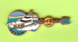 Pin's Hard Rock Café Destin Guitare Bateau - HRC45 - Musique