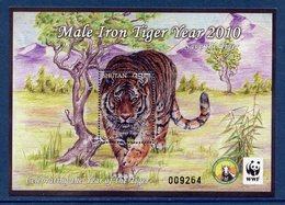 Bhutan - Bhoutan - Bloc - Male Iron Tiger Year - Année Du Tigre - Neuf Sans Charnière - 2010 - Bhután