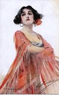 W. Barribal,  Lady In Red Dress. - Barribal, W.