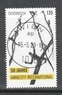 """Österreich 2020: """"50 Jahre Amnesty International"""" Gestempelt(s. Foto) - 2011-... Gebraucht"""