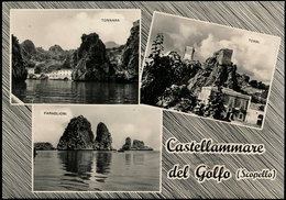 CASTELLAMMARE DEL GOLFO - SCOPELLO (TRAPANI) VEDUTINE 1961 - Trapani