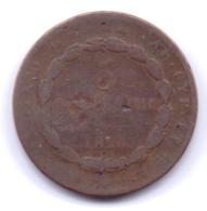 ITALIA - SARDEGNA 1826: 5 Centesimi, KM 127 - Monete Regionali