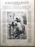 L'Illustrazione Italiana 9 Novembre 1890 Spilla Nera Cairo Atene Fortunale Emin - Vor 1900