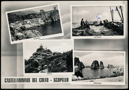 CASTELLAMMARE DEL GOLFO - SCOPELLO (TRAPANI) VEDUTINE 1954 - Trapani