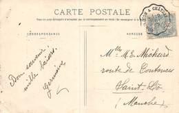 PIE-20-FD-673 : CACHET AMBULANT MONTLUCON A CHATEAUROUX. ALLIER ET INDRE. 1 OCTOBRE 1905. CARTE POSTALE AU PAYS CREUSOIS - Postmark Collection (Covers)