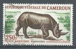 Cameroun Poste Aérienne YT N°55A Rhinocéros Oblitéré ° - Kameroen (1960-...)